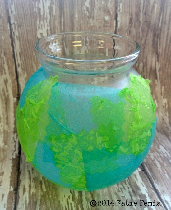Earth Globe Vase - Easy Upcycled Earth Day Craft Project for Kids