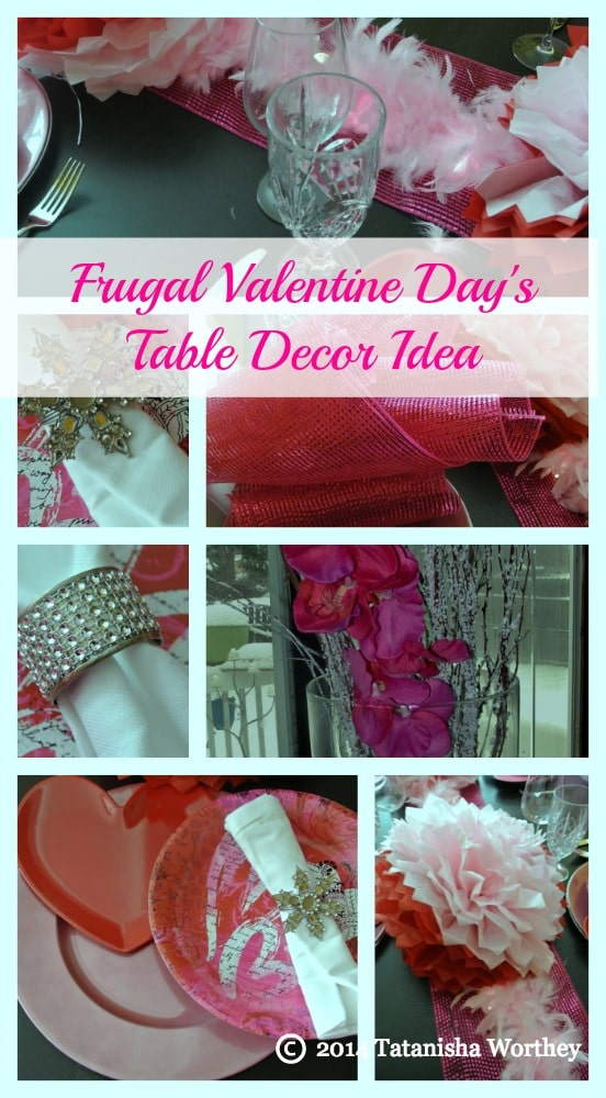 frugal valentine days table decor idea