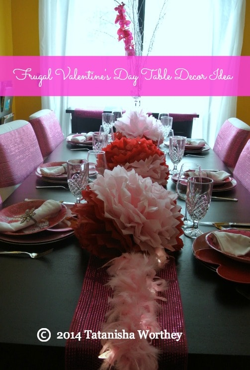 frugal valentines day table decor idea