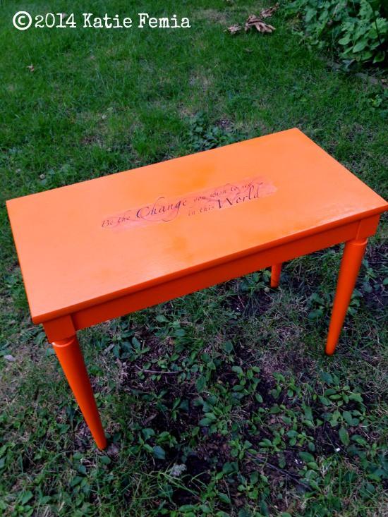 Dollar Store Decals Frugal Furniture Makeover