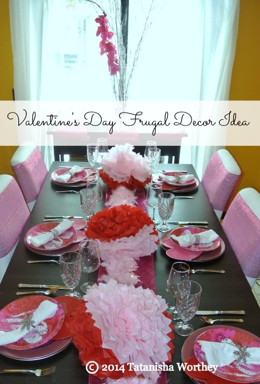 valentines day frugal decor idea