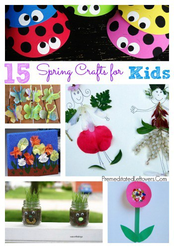 15 Spring Crafts for Kids- These spring craft projects are perfect for children. Enjoy doing them with your kids or include a few with a spring unit study.