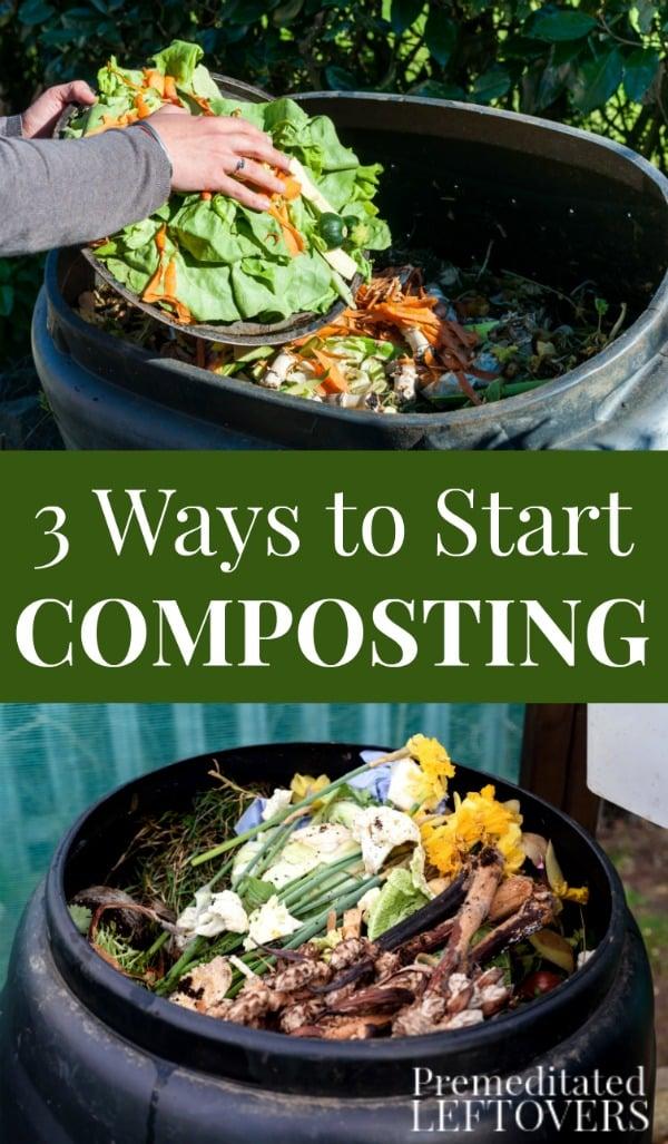 3 Ways to Start Composting