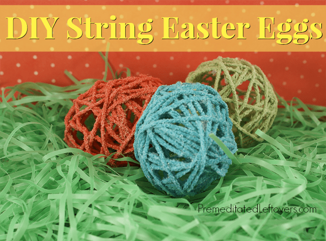 DIY String Easter Eggs Tutorial