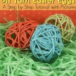 Easy DIY Yarn Easter Eggs