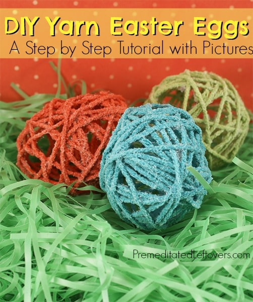 DIY Yarn Easter Eggs