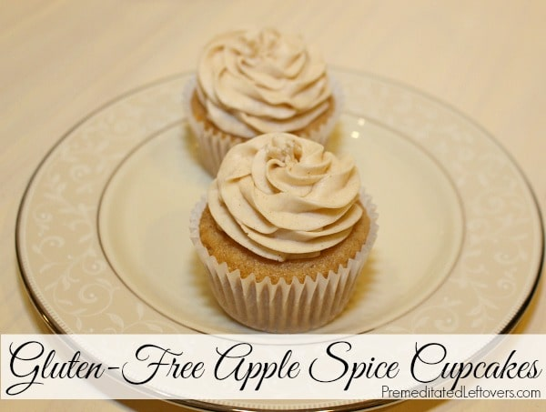 Gluten-Free Apple Spice Cupcakes Recipe with Cinnamon Frosting