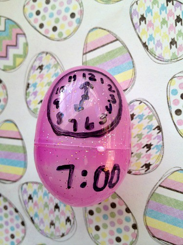 How to tell time using Easter eggs + More Learning Games Using Plastic Easter Eggs