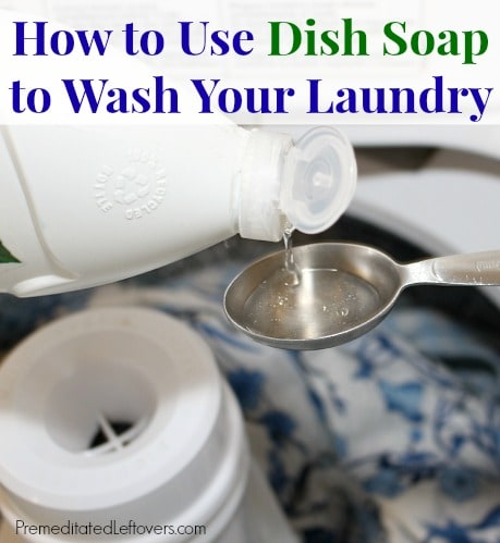 can i use dish soap in my washing machine