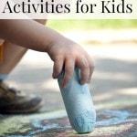 Outdoor Spring Activities for Kids including frugal outdoor activities for kids, outdoor activities for toddlers and outdoor activities for spring break.