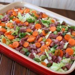Corned Beef and Cabbage Casserole with a Hash Brown Crust