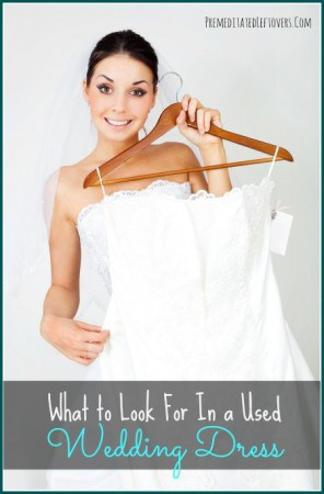 What to look for in a used wedding dress.