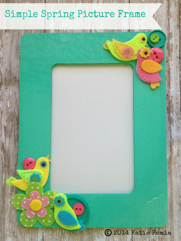 Simple Spring DIY Picture Frame
