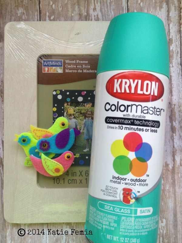 Supplies needed for Simple Spring Picture Frame