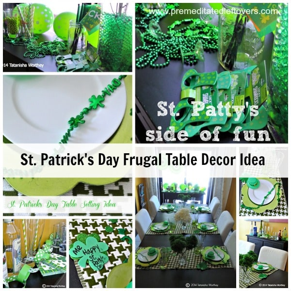Frugal St. Patricks Day table decor ideas