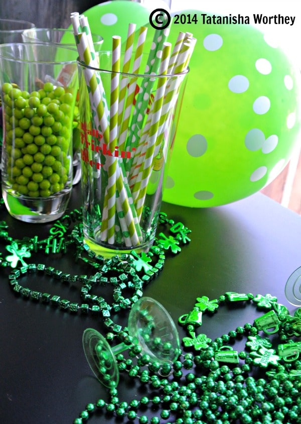 St. Patrick's Day table decor and side table fun