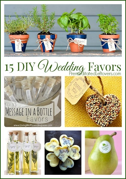 15 Frugal DIY Wedding Favor Ideas