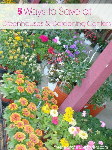 5 Ways to save at green houses and garden centers
