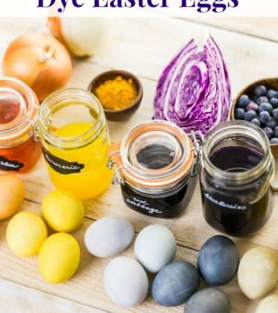 Easter eggs dyed naturally with natural egg dye from fruits and vegetables.