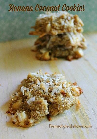 Flourless Banana Coconut Cookies Recipe