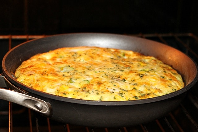 Broil the frittata