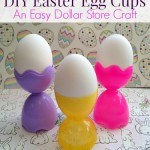DIY Easter Egg Cups using plastic Easter eggs