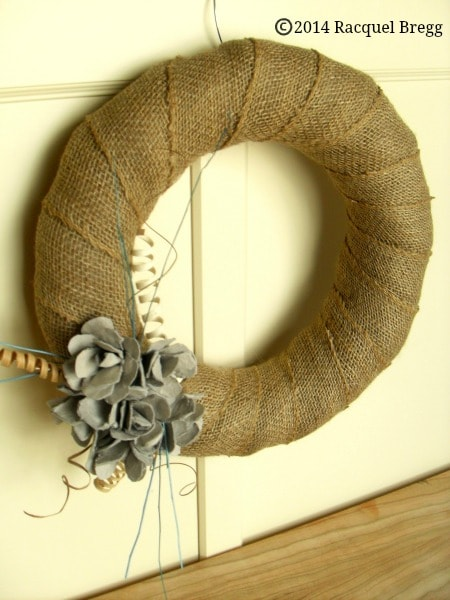 Egg Carton Craft - DIY Upcycled Egg Carton Flower Wreath