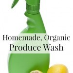 Homemade, Organic Fruit and Vegetable Wash