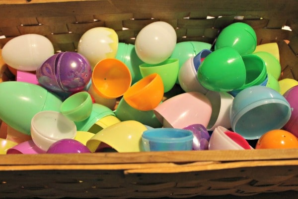 Color Matching activity using plastic Easter eggs