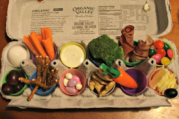 Fun lunch idea using plastic Easter eggs