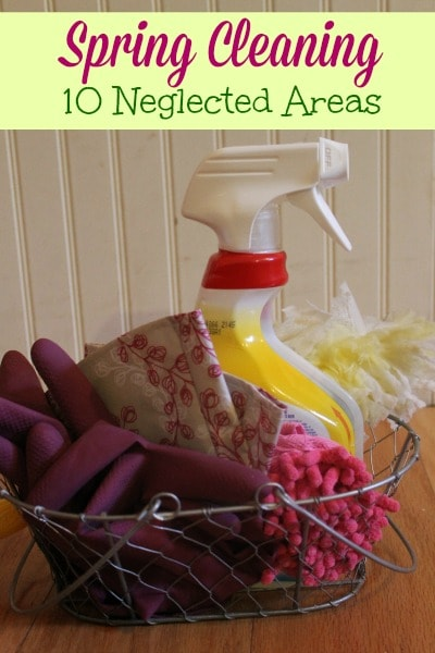 Spring Cleaning List - The 10 Neglected Areas: A list of 10 spots that are often missed during spring cleaning and tips for cleaning these overlooked areas.