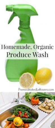 Organic Fruit and Vegetable Wash Recipe