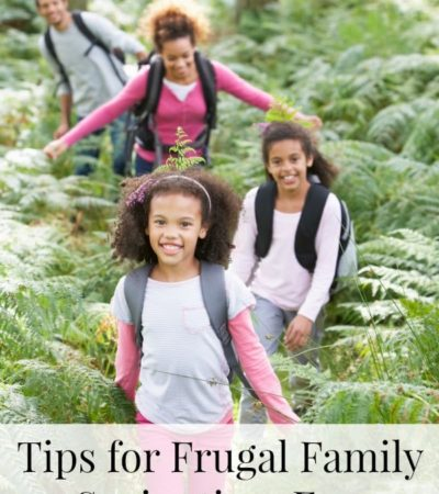 Spring Frugal Family Fun - tips for how to save money on spring break with your family, frugal spring family activities and cheap family fun.