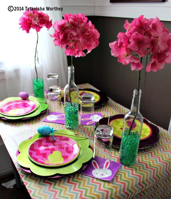 Frugal easter table decor ideas for Easter dinner table decorating ideas