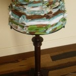 Fabric Lamp Shade - DIY Fabric Scraps Lamp Shade