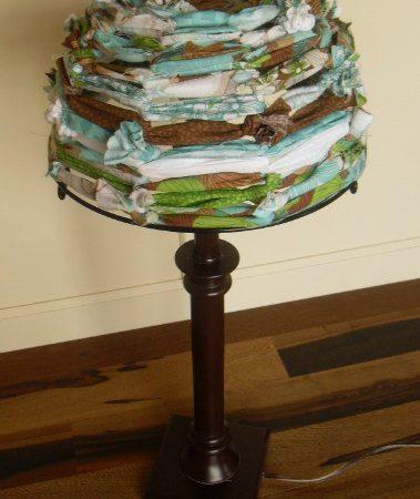Fabric Lamp Shade - DIY Fabric Scraps Lamp Shade
