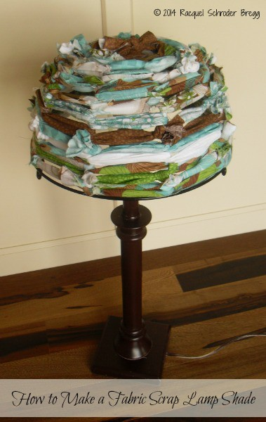 DIY Fabric Lamp Shade Made with Fabric Scraps