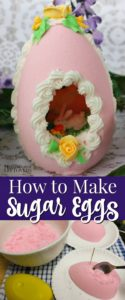 How to make sugar eggs forEaster with a panoramic view.