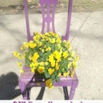 DIY Easy Upcycled Chair Planter