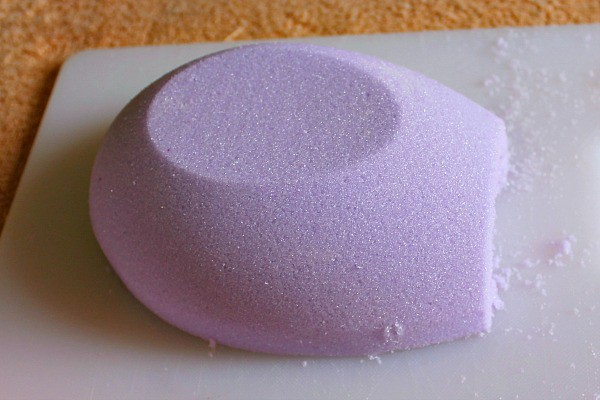 cut the end off the horizontal sugar eggs to create a view hole.