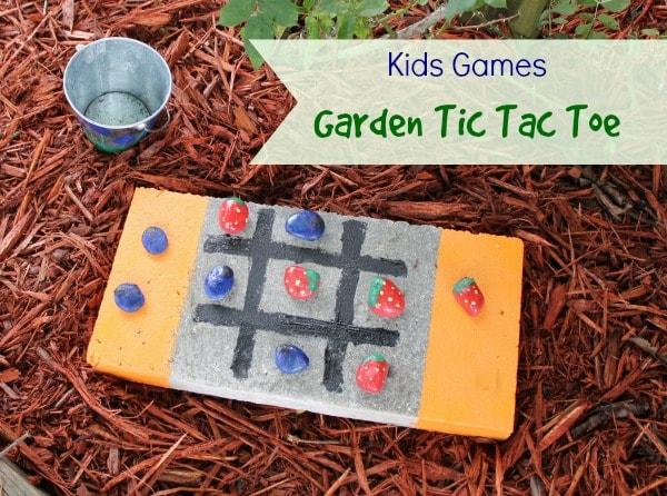 How to Make a Garden Tic-Tac-Toe Game with a Concrete Block and Rocks - A fun craft and game for you and your child to incorporate into your yard or garden.