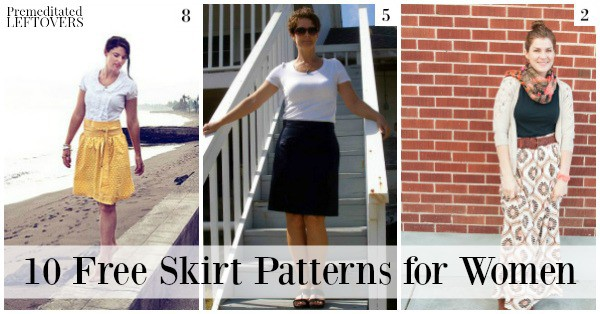 These 10 Free Skirt Patterns for Women will save you money on skirts while adding unique, custom designs to your wardrobe.