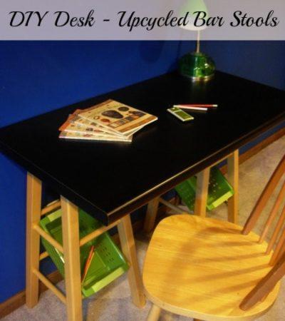 DIY Desk - Upcycled Bar Stools