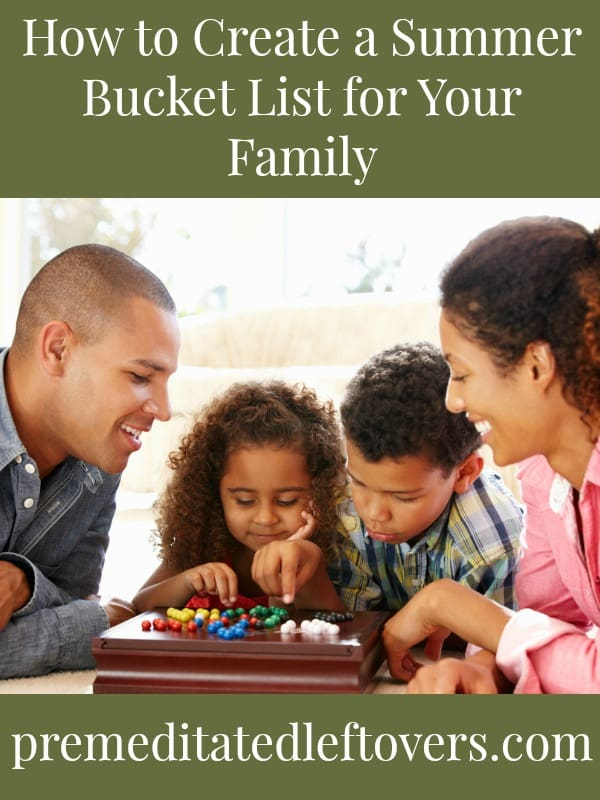 summer bucket list idea - family game night