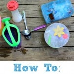 How to create an ice-cavation ice block for kids