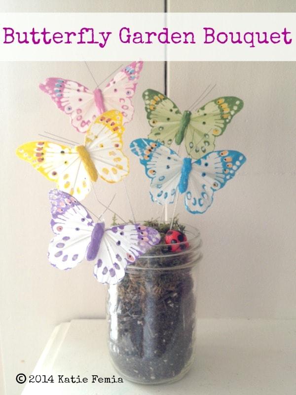 how to make a butterfly garden bouquet