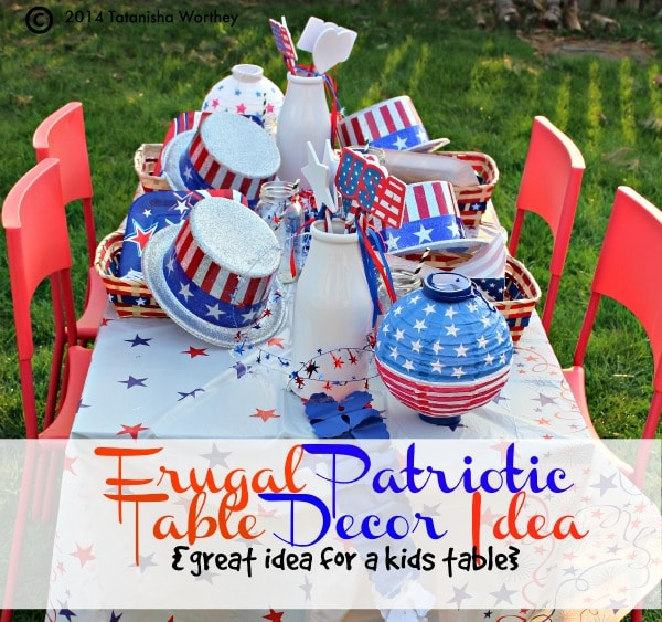 frugal patriotic table decor ideas