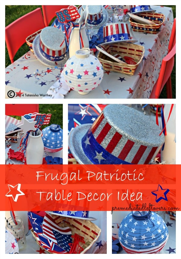 frugal patriotic table decor ideas1