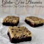 gluten-free dairy-free brownies with chocolate chip cookie dough frosting