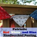 Red, White, and Blue Handkerchief Bunting